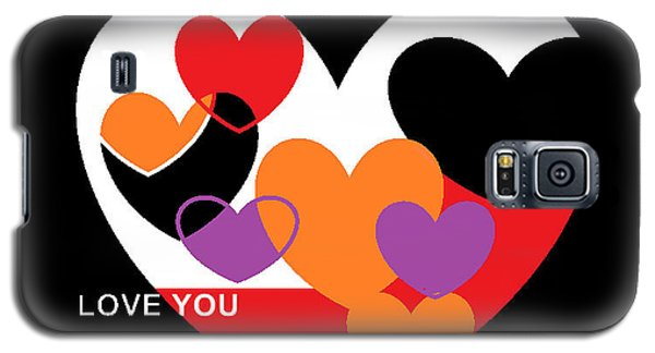 Galaxy S5 Case featuring the digital art Valentine's Day by Andrew Drozdowicz