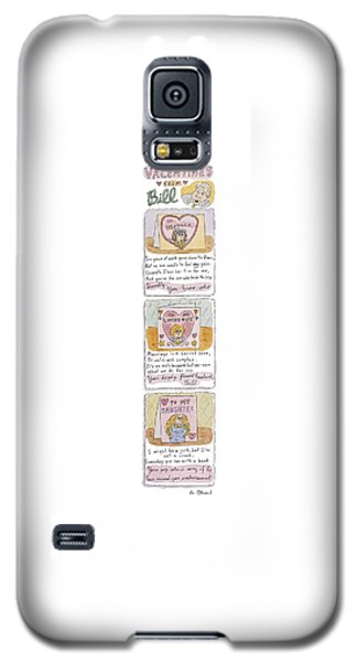 Valentines From Bill To Monica Galaxy S5 Case by Roz Chast