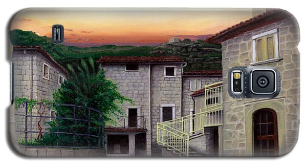 Galaxy S5 Case featuring the painting Vallecchia De Monte Calvo by Albert Puskaric