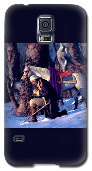 Galaxy S5 Case featuring the painting Valley Forge by Dave Luebbert