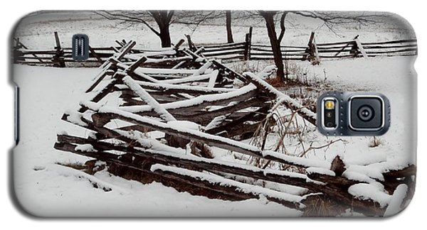 Galaxy S5 Case featuring the photograph Valley Forge Snow by Michael Porchik