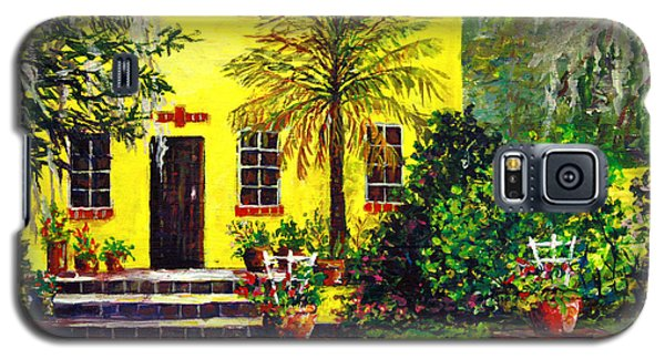 Galaxy S5 Case featuring the painting Vamo Road House by Lou Ann Bagnall