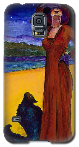 Van Goes With Mrs. Klimt On A Starry Night Galaxy S5 Case