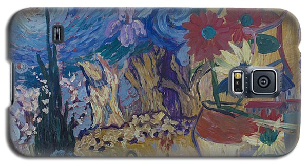 Galaxy S5 Case featuring the painting Van Gogh Spirit by Avonelle Kelsey