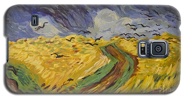 Van Gogh Wheat Field With Crows Copy Galaxy S5 Case by Avonelle Kelsey