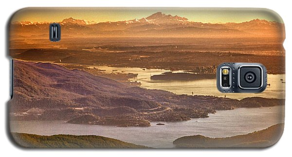 Vancouver And Mt Baker Aerial View Galaxy S5 Case by Eti Reid