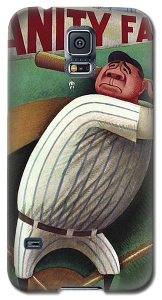 Vanity Fair Cover Featuring Babe Ruth Galaxy S5 Case by Miguel Covarrubias