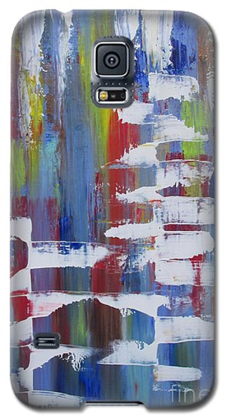 Galaxy S5 Case featuring the painting Vantage Point by Nereida Rodriguez