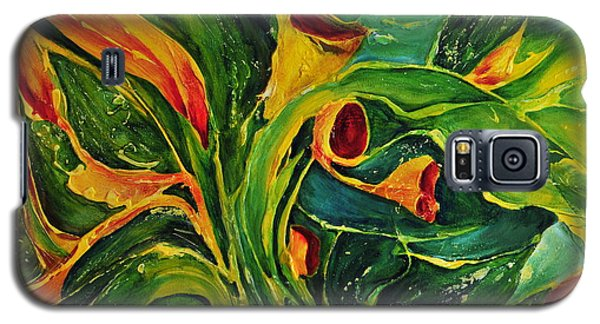 Galaxy S5 Case featuring the painting Variation  No.2 by Teresa Wegrzyn