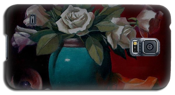 Galaxy S5 Case featuring the painting Vase by Rick Fitzsimons