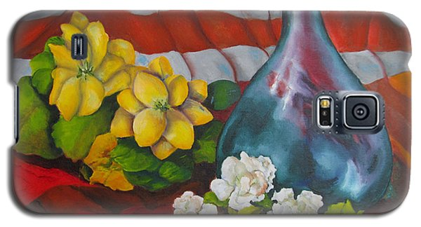 Vase With Flowers Galaxy S5 Case by Lisa Boyd