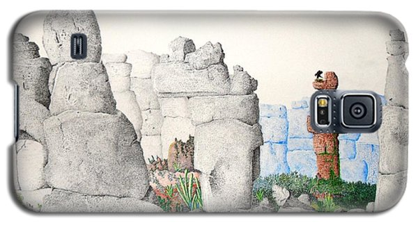 Galaxy S5 Case featuring the painting Vaulting by A  Robert Malcom