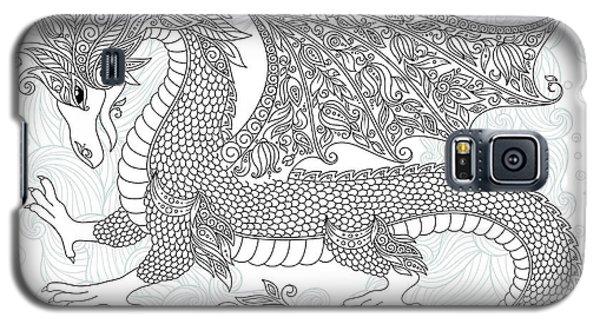 Dragon Galaxy S5 Case - Vector Cartoon Dragon. Hand Drawn by Photo-nuke