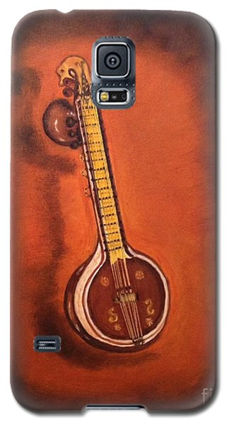 Galaxy S5 Case featuring the painting Veena by Brindha Naveen