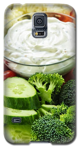 Vegetables And Dip Galaxy S5 Case by Elena Elisseeva