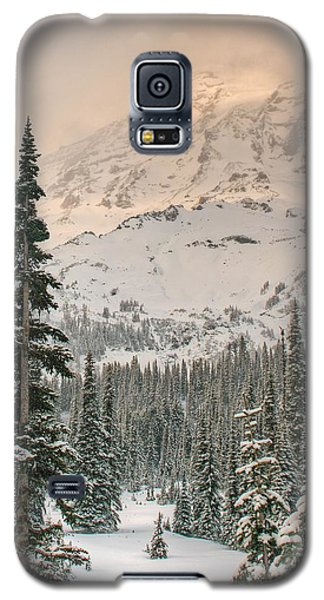 Galaxy S5 Case featuring the photograph Veiled Mountain by Jeff Cook