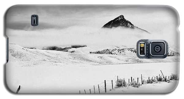 Galaxy S5 Case featuring the photograph Veiled Winter Peak by Kristal Kraft