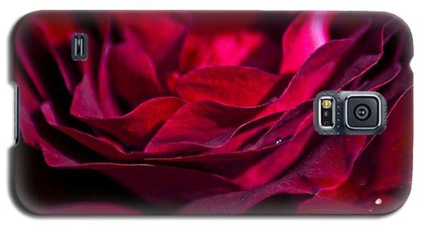 Velvet Red Rose Galaxy S5 Case by Jan Bickerton