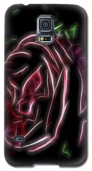 Galaxy S5 Case featuring the digital art Velvet Rose 1 by William Horden