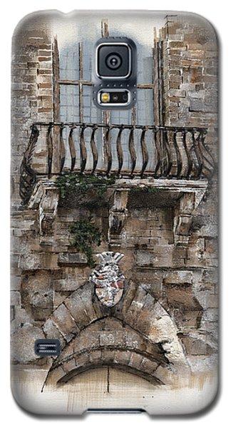 Galaxy S5 Case featuring the painting Venetian Balcony 02 Elena Yakubovich by Elena Yakubovich