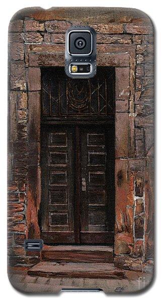 Galaxy S5 Case featuring the painting Venetian Door 02 Elena Yakubovich by Elena Yakubovich