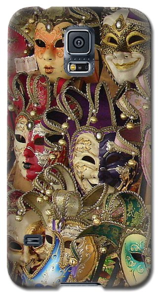 Galaxy S5 Case featuring the photograph Venetian Masks by Ramona Johnston