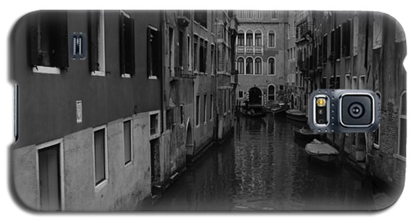 Galaxy S5 Case featuring the photograph Venetian Monochrome Bw by Walter Fahmy