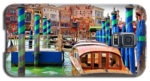 Galaxy S5 Case featuring the digital art Venetian Water Taxi by Brian Davis