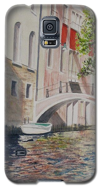 Galaxy S5 Case featuring the painting Venice 2000 by Carol Flagg