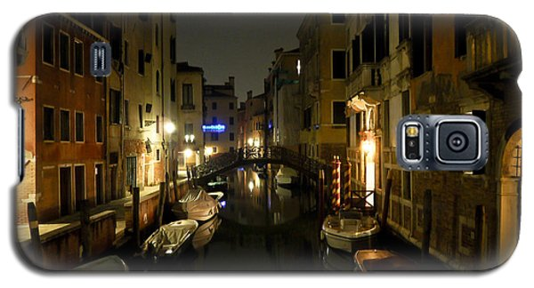 Galaxy S5 Case featuring the photograph Venice At Night by Silvia Bruno