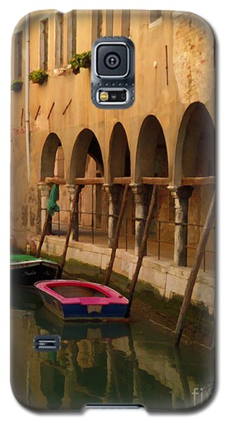 Venice Boats On Canal Galaxy S5 Case