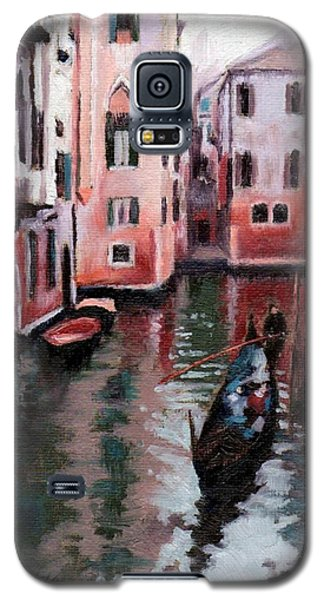 Galaxy S5 Case featuring the painting Venice Gondola Ride by Janet King