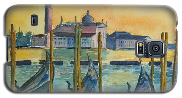 Galaxy S5 Case featuring the painting Venice Gondolas by Geeta Biswas