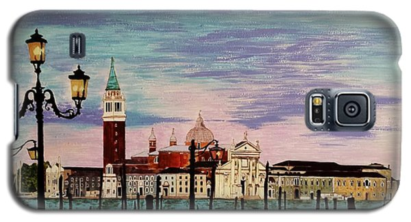 Galaxy S5 Case featuring the painting Venice  Italy By Jasna Gopic by Jasna Gopic