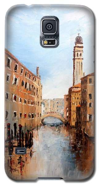 Galaxy S5 Case featuring the painting Venice Italy by Jean Walker