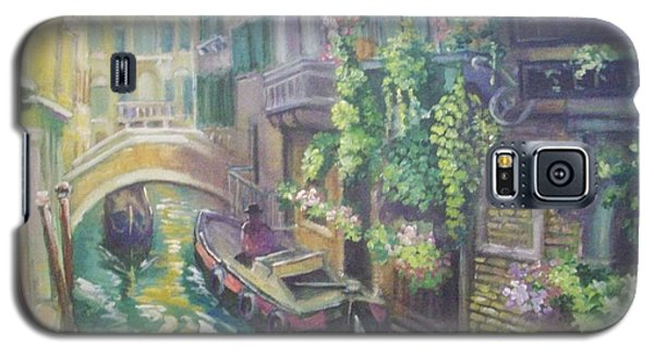Galaxy S5 Case featuring the painting Venice -italy by Paul Weerasekera