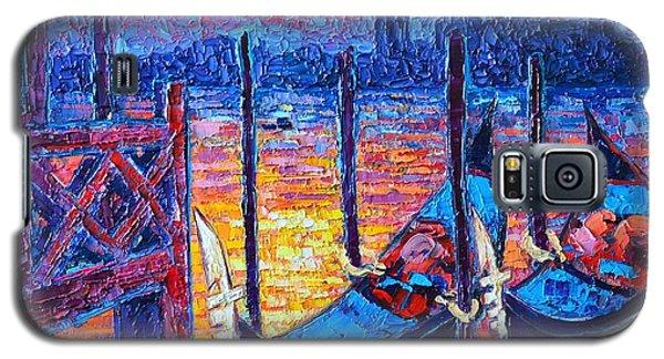 Venice Mysterious Light - Gondolas And San Giorgio Maggiore Seen From Plaza San Marco Galaxy S5 Case