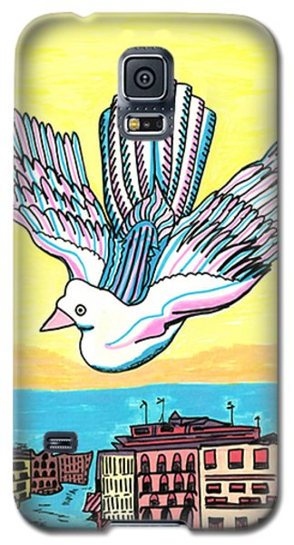 Galaxy S5 Case featuring the drawing Venice Seagull by Don Koester