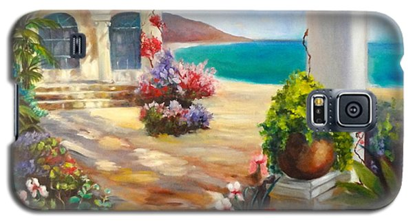 Galaxy S5 Case featuring the painting Venice Villa by Jenny Lee