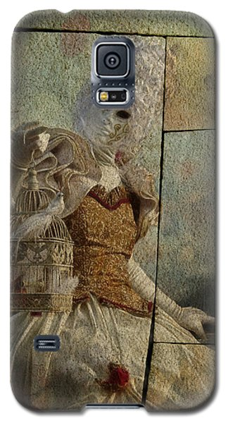Galaxy S5 Case featuring the photograph Venitian Carnival-bird In A Cage by Barbara Orenya