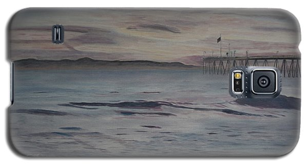 Ventura Pier High Surf Galaxy S5 Case by Ian Donley
