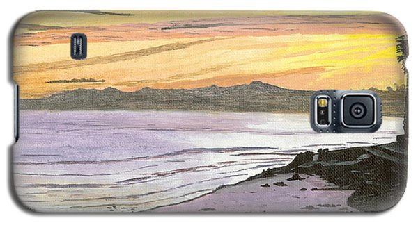 Ventura Point At Sunset Galaxy S5 Case by Ian Donley