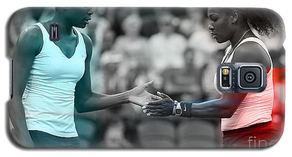 Serena Williams Galaxy S5 Case - Venus Williams And Serena Williams by Marvin Blaine