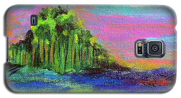 Galaxy S5 Case featuring the painting Verdant Tuft by Elizabeth Fontaine-Barr