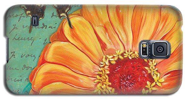Ladybug Galaxy S5 Case - Verdigris Floral 1 by Debbie DeWitt