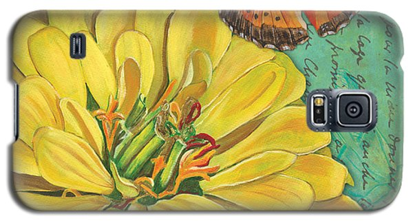 Ladybug Galaxy S5 Case - Verdigris Floral 2 by Debbie DeWitt