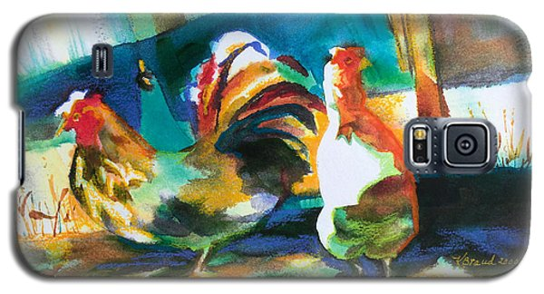 Galaxy S5 Case featuring the painting Veridian Chicken by Kathy Braud