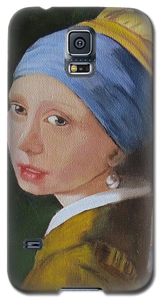 Galaxy S5 Case featuring the painting Vermeer Study by Sharon Schultz