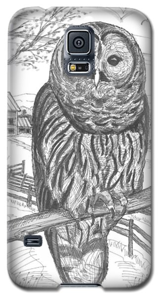 Vermont Barred Owl Galaxy S5 Case