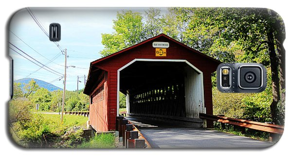 Galaxy S5 Case featuring the photograph Vermont Covered Bridge by Trina  Ansel